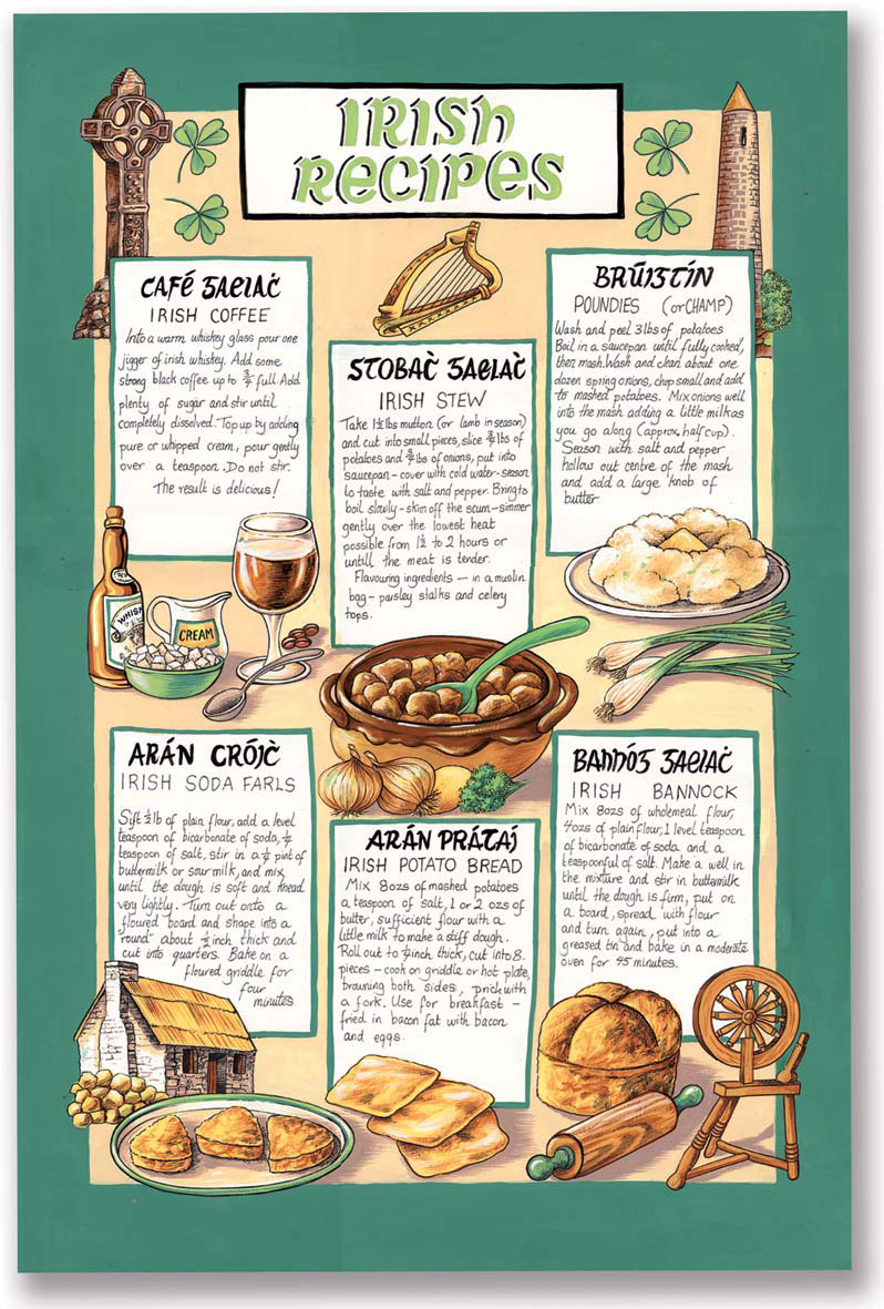 Tea Towel - Trad Irish Recipies