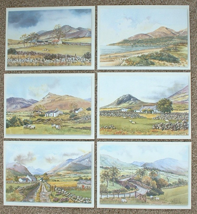 Set of 6 Greeting Cards - Scenic North of Ireland