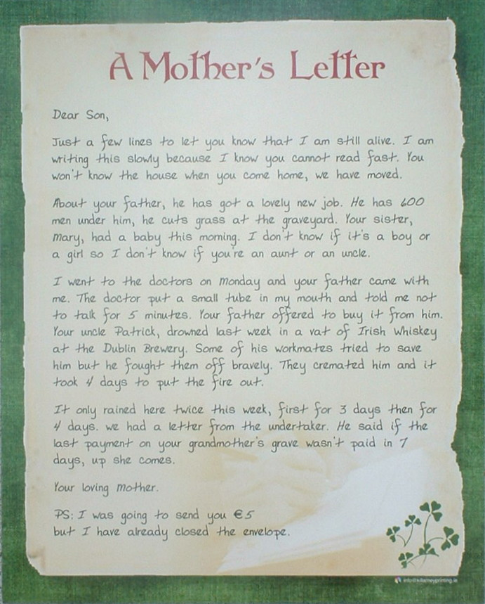 a mothers letter