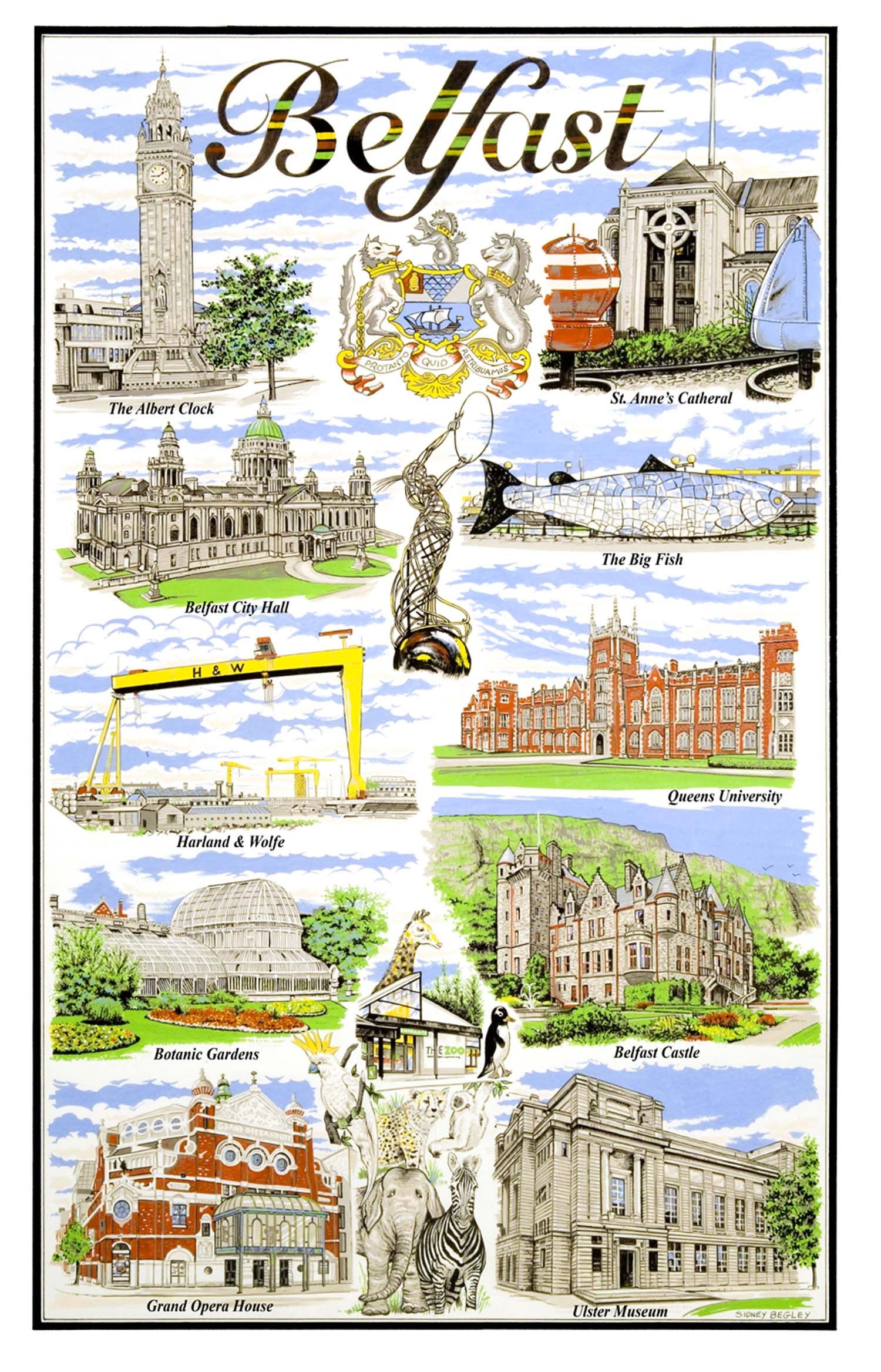 Belfast Linen Tea Towel