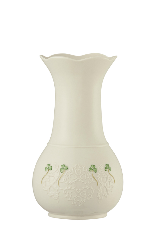 Belleek Shamrock Lace Vase 10 inch