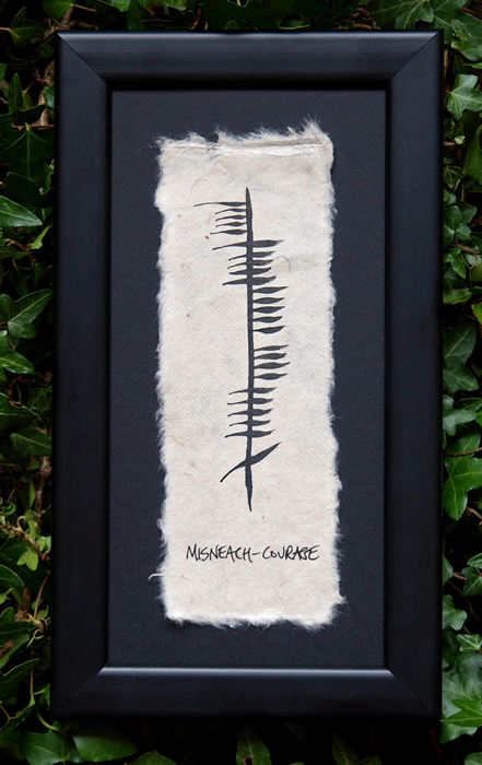 Courage - Irish Made Single Ogham
