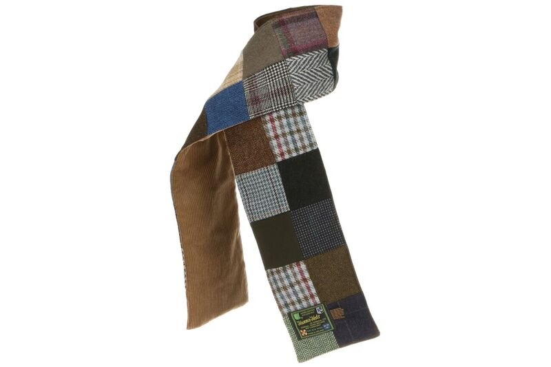 Donegal Patchwork Tweed Scarf