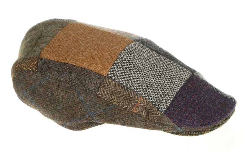 Irish Patchwork Tweed Donegal Touring Cap