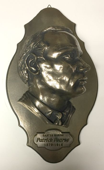 Patrick Pearse Bronze Wall Plaque 9.6 inch