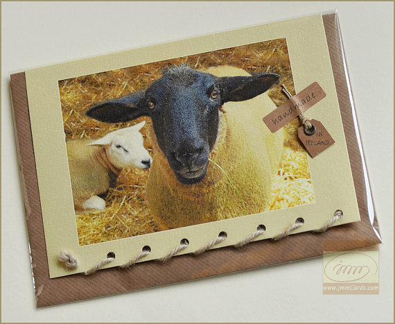 Ewe and Baby Lamb - Greeting Card