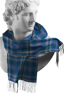 Fermanagh County Tartan Lambswool Scarf