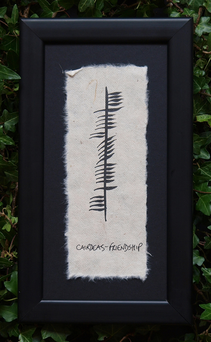 Friendship - Irish Made Single Ogham