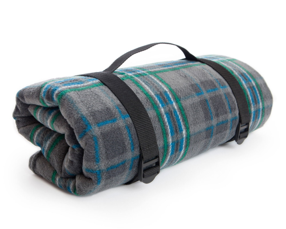 Giants Causeway Tartan Waterproof Rug Roll Fleece