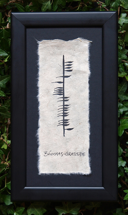 Gratitude - Buiochas Ogham Single - Small