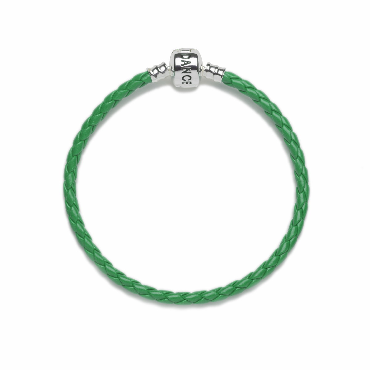 Official Riverdance20 Green Leather Style Charm Bracelet