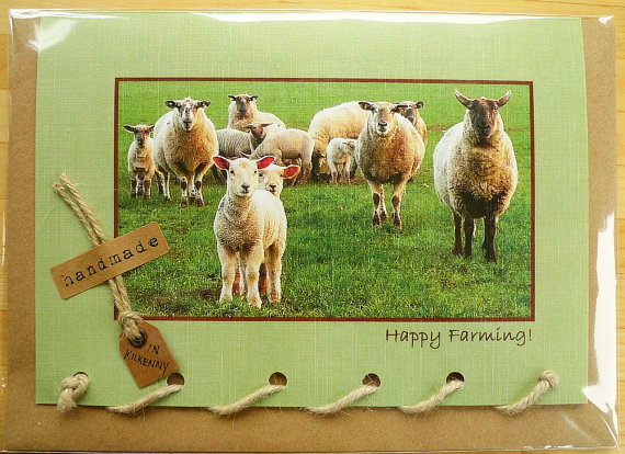 Happy Farming Sheep Greeting Card