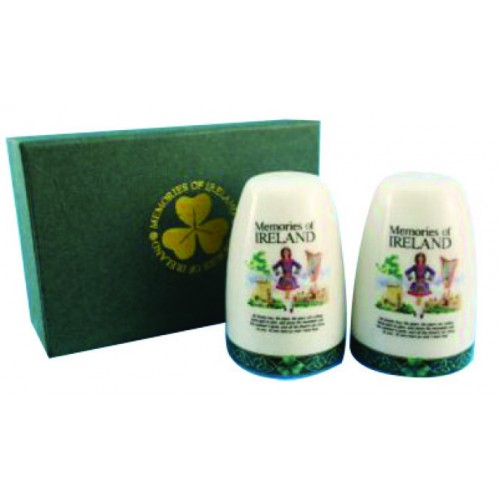 Memories of Ireland Ceramic Salt & Pepper Set