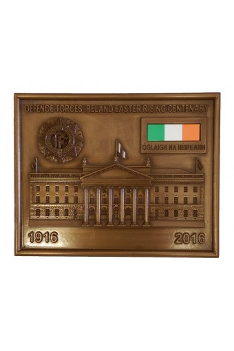Defence Forces Ireland Bronze Plaque 5.6 inch