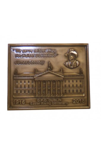 James Connolly GPO Bronze Wall Plaque 5.6 inch