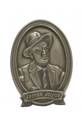 James Joyce Bronze Wall Plaque 6""