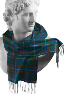 Kerry County Tartan Lambswool Scarf