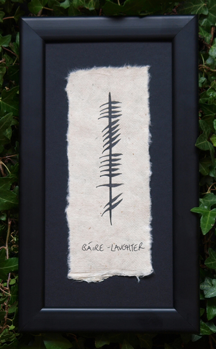 Laughter - Irish Made Single Ogham