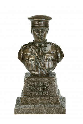"Michael Collins Bronze Bust 7.6"" - Click Image to Close"