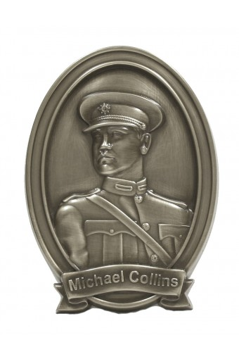 Michael Collins Bronze Wall Plaque 6""