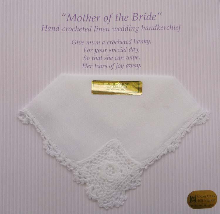Mother Of The Bride Linen Handkerchief