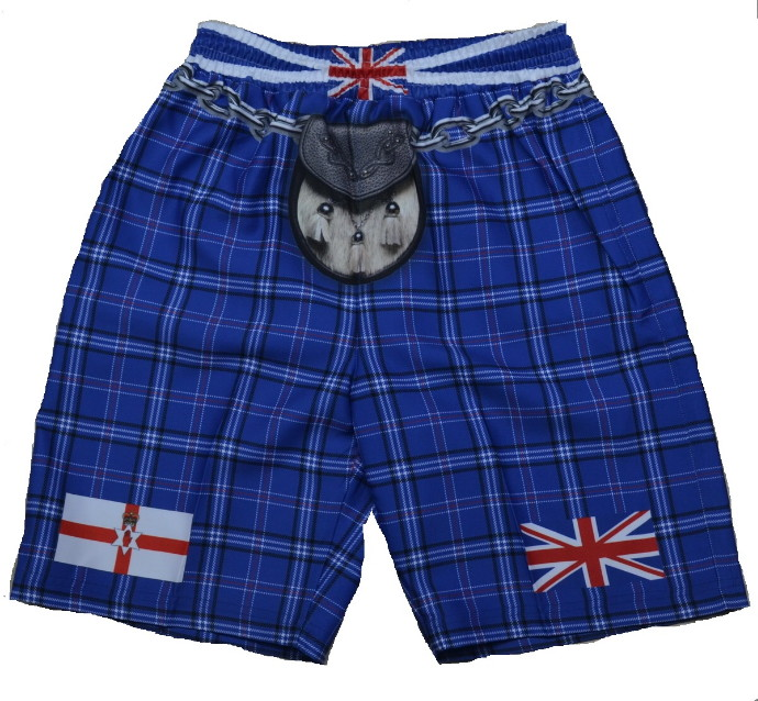 Northern Ireland Tartan Kilt Shorts - Large