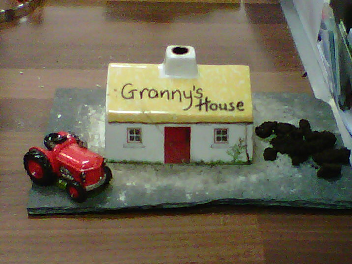 Irish Turf Peat Ceramic Incense Cottage - Personalised