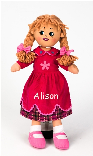 Personalised Rag Doll - Poppy