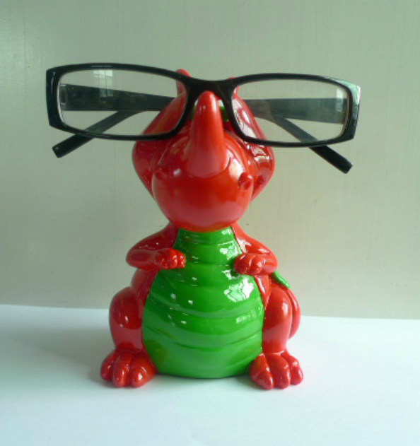 Piggy Bank Welsh Dragon Eye Glass Spectacles Holder