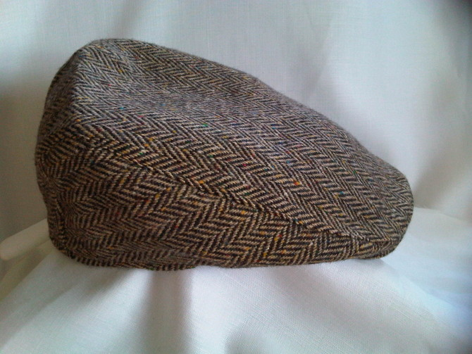Irish Plain Tweed Donegal Touring Cap