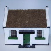 Irish Handcrafted Thatched Cottage - Large