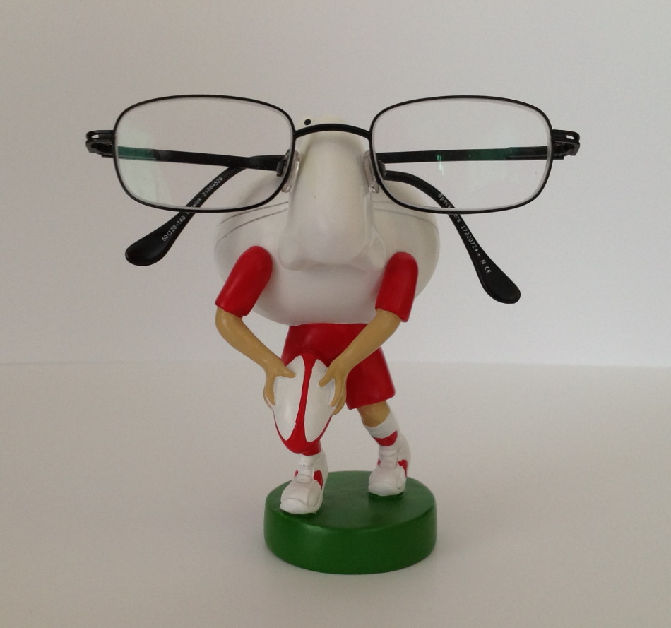 Rugby Spectacles Holder in Wales Colors - Personalised