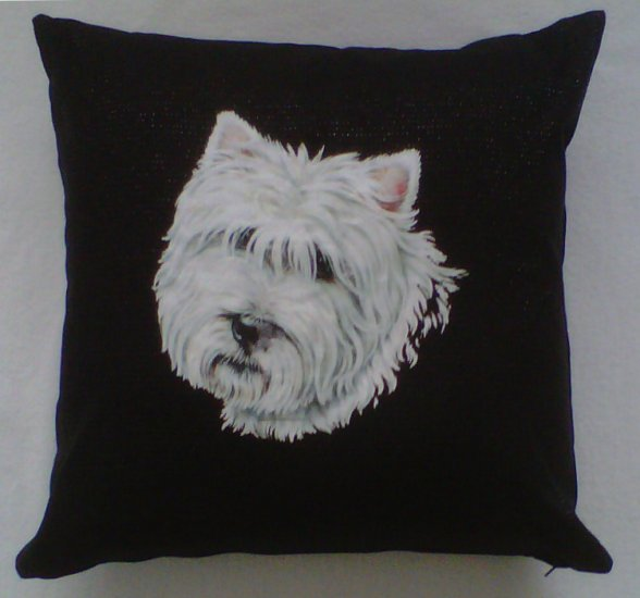 West Highland Terrier Irish Linen Cushion