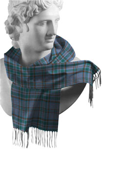 Wicklow County Tartan Lambswool Scarf