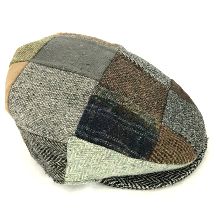 Irish Vintage Donegal Patchwork Tweed Cap