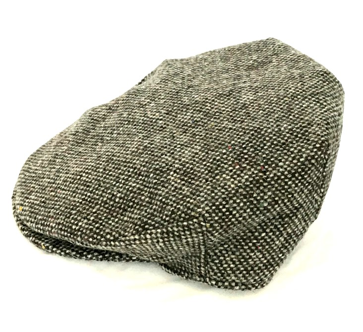 Irish Plain Grey Vintage Tweed Flat Cap