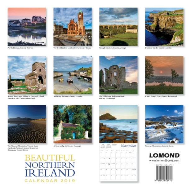 Beautiful Northern Ireland Calendar 2019