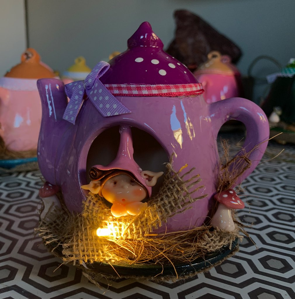 Fantasy Fairy Teapot Purple