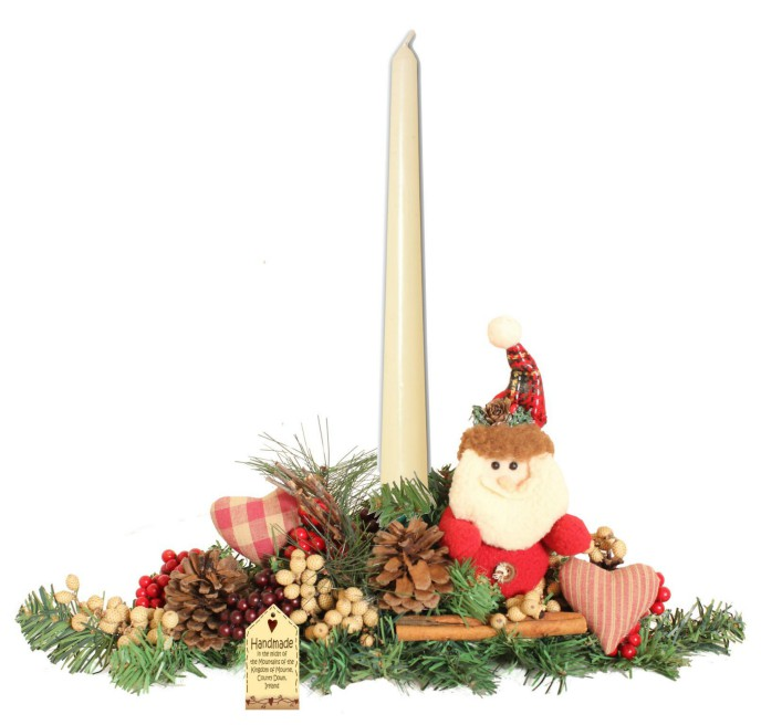 Festive Pals Small Candle Arrangement