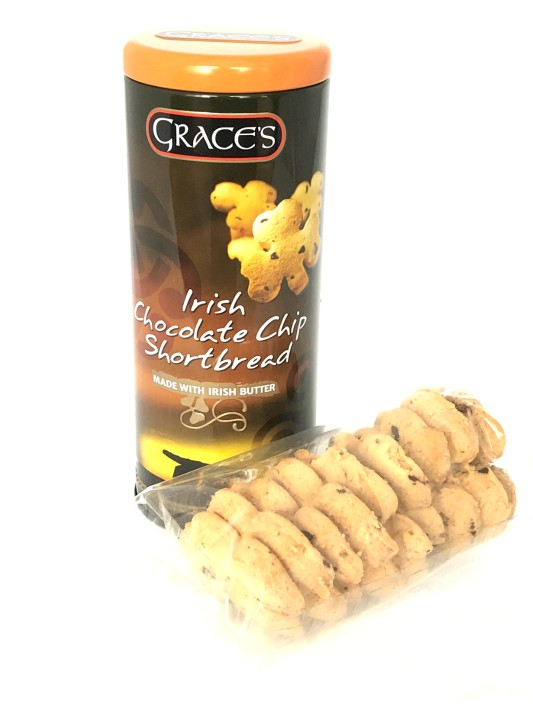 Grace's Round Tin of Irish Chocolate Chip Shortbread 135g