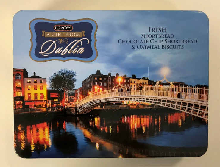 Grace's Gift From Dublin Souvenir Tin - Biscuits/Shortbread
