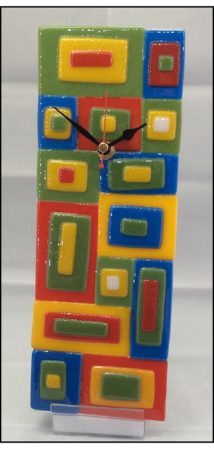 Irish Provinces Glass Art Clock