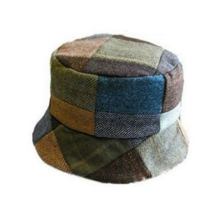 Patchwork Tweed Ladies Hat