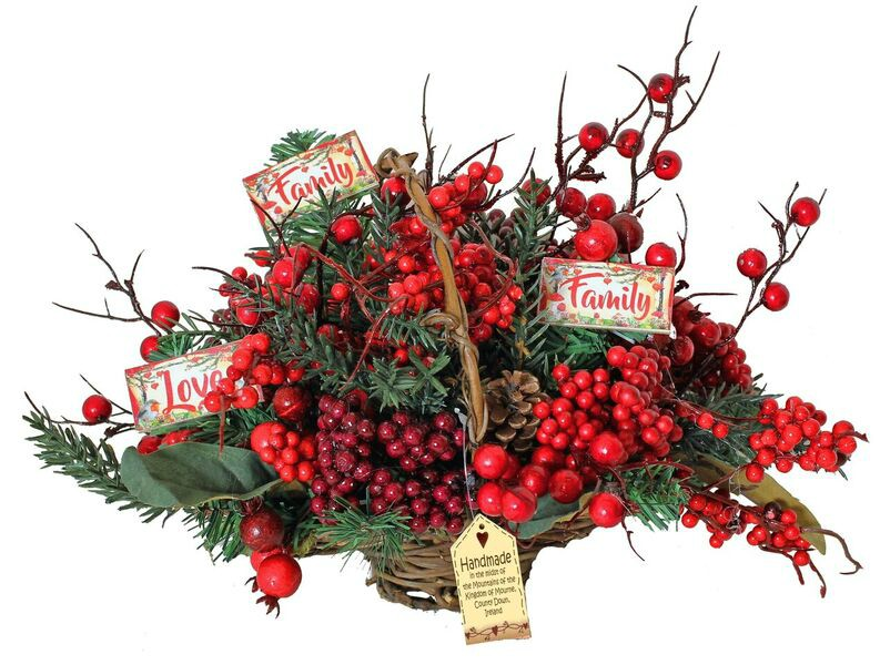 Merry Berry Small Floral Basket