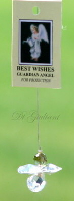 Crystal Hanging Angel/Best Wishes