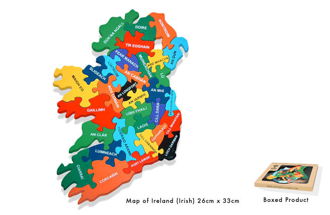 Map of Eire Jigsaw - In Irish Language