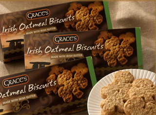 Grace's Irish Shamrock Shaped Oatmeal Biscuits 135g
