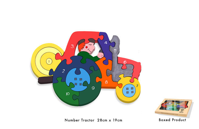 Number Tractor Jigsaw