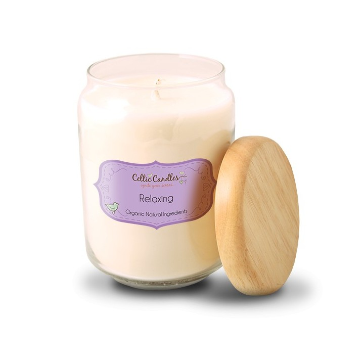 Relaxing Large Candle - Geranium, Lavender and Tea Tree