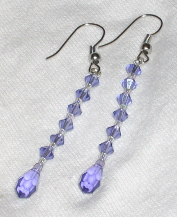 Swarovski Crystal Tanzanite Teardrops